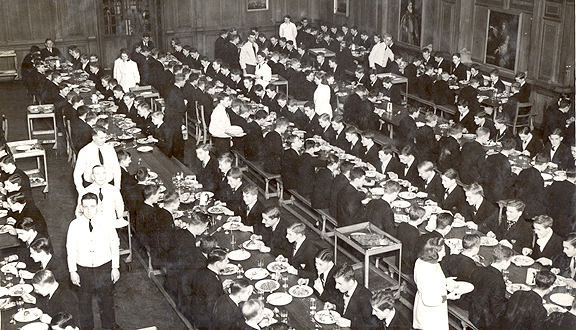 Cadets dining,  Royal Naval College, Dartmouth, 1942