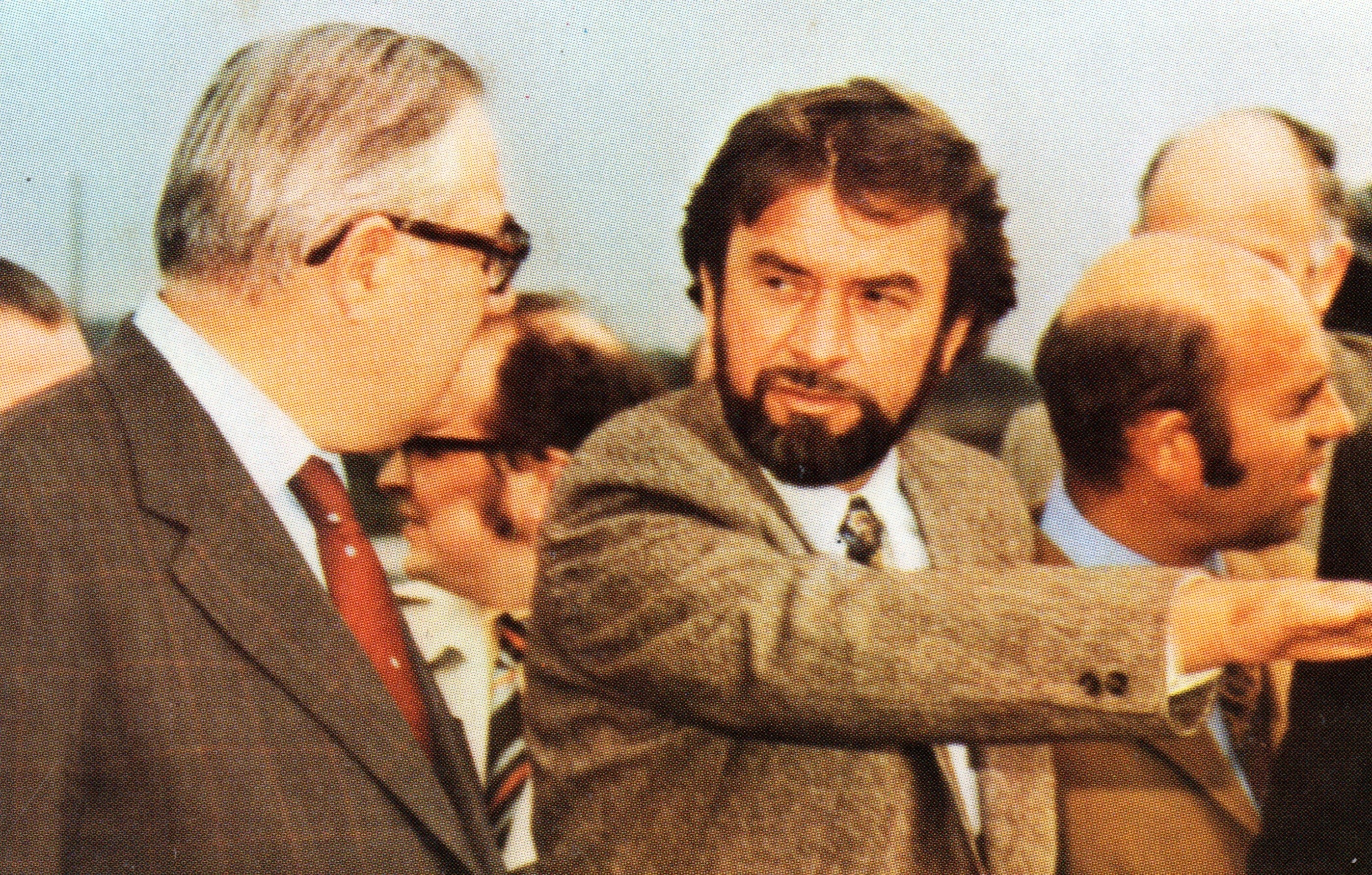 Howard Stevens with Prime Minister James Callaghan, 1970s