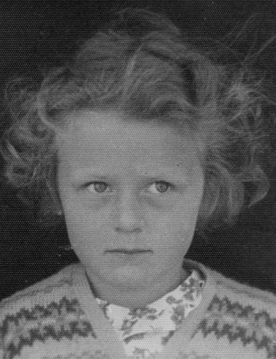 Jenny Constant, aged 6, in a school photo in 1952