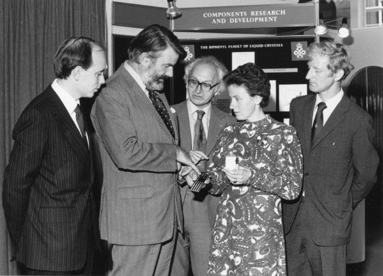 Jenny Constant with Peter Raynes, Lord Strathcona, Cyril Hilsum, John Kirton, October 1979