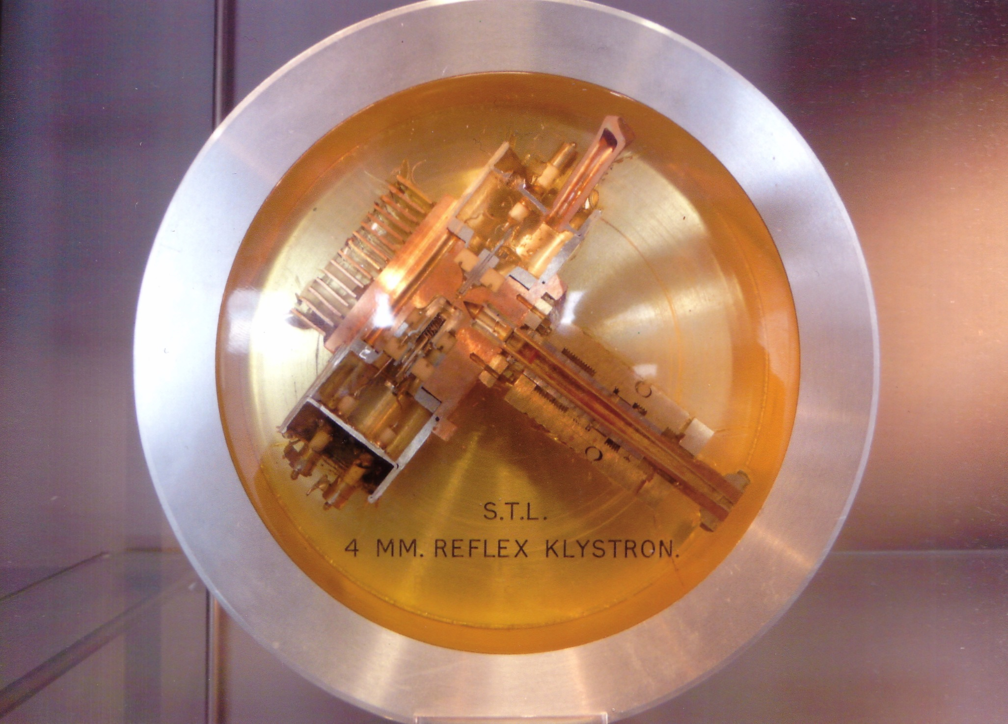 A miniature kylstron, now displayed at UCL, developed by Tom Jackson's group in the 1960s